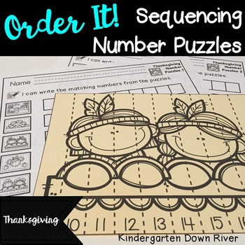 Order It! Thanksgiving Sequencing Number Puzzles {English