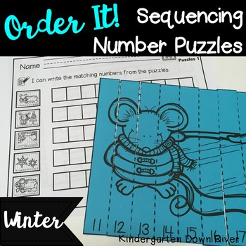 Order It! Winter Sequencing Number Puzzles- Counting Forwa