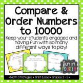 Order Numbers to 10000 Task Cards: 4 Ways to Play!
