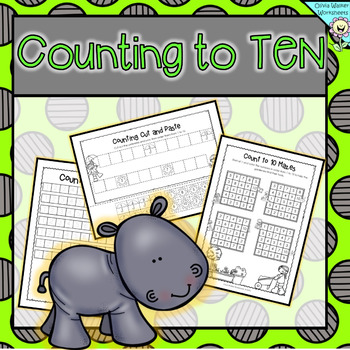 Ordering Numbers to Ten - Counting to 10 - Kindergarten Wo