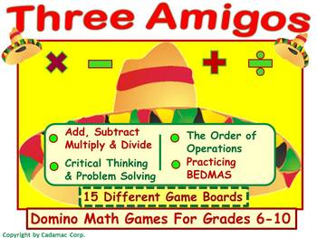 Cinco de Mayo~ An Order of Operations Game For Partner Fun