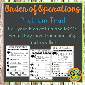 Order Of Operations Problem Trail- Student Activity - Add