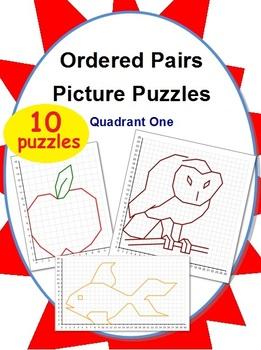 Ordered Pairs Picture Puzzles (Quadrant 1)