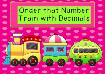 Order That Number Train With Decimals