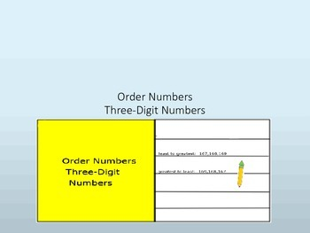 Order Three-Digit Numbers Interactive Lesson