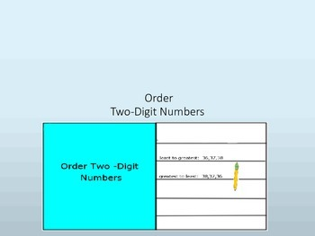 Order Two-Digit Numbers Interactive Lesson