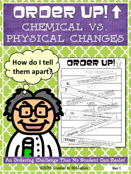 Chemical vs. Physical Changes - Order Up!
