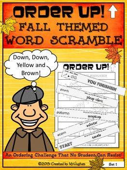 Word Scramble - Fall Themed Order Up!