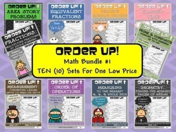 Math Bundle #1 Order Up! (10 Sets)