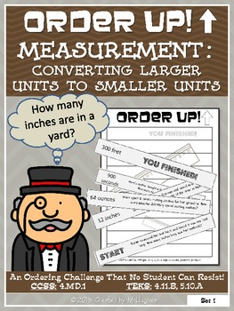 Measurement : Converting Larger Units to Smaller Units - O