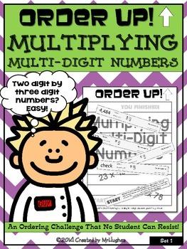 Multiplying Multi-Digit Numbers - Order Up! Set 1