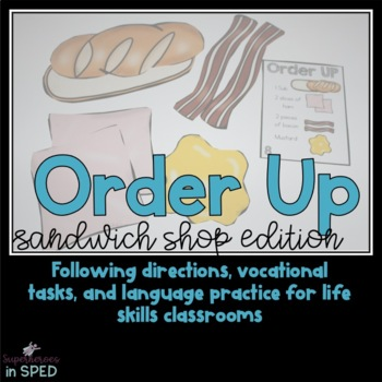 Order Up! Sandwich Shop: vocational and following directio
