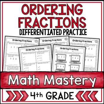 Comparing Fractions (4th Grade Common Core Math: 4.NF.2)