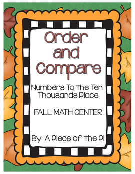 Order and Compare Numbers Center grades 3 and 4