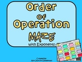 Order of Operation Maze (with Exponents)