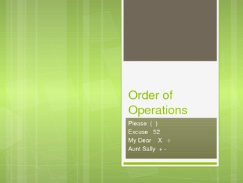 Order of Operation Practice Powerpoint