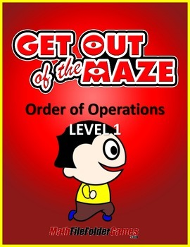 Order of Operations Maze (No Exponents & No parentheses/br