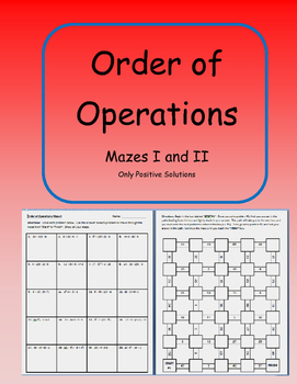 Order of Operations (Mazes I and II)