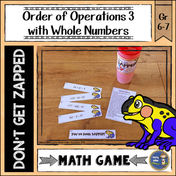 Order of Operations 3 Whole Numbers ZAP Math Game
