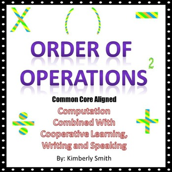 Order of Operations Activities and Lesson With Smartboard Files