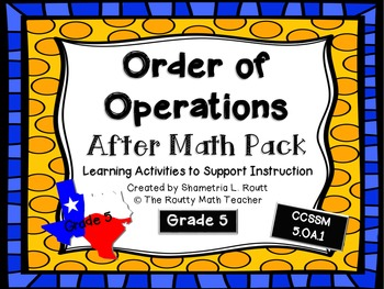 Order of Operations: Activities and Games Pack