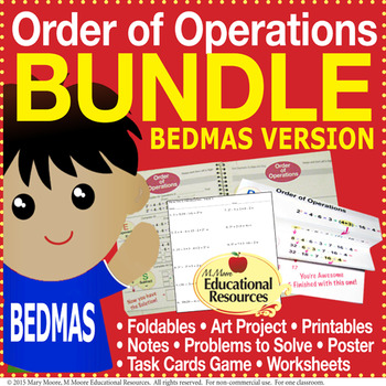 Order of Operations - BEDMAS - BUNDLE of Engaging Lessons,