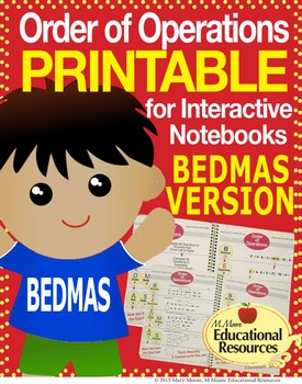 FREE!  Order of Operations - BEDMAS - Printable & More!