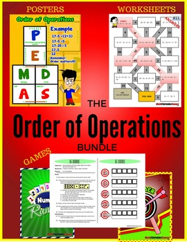 Order of Operations BUNDLE (Games, Activities, Posters & W
