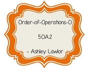 5.OA.2 Order of Operations Bingo