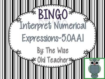Order of Operations Bingo Game PowerPoint with Blank Bingo