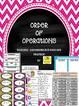 Order of Operations Unit and Bundle