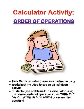 Order of Operations: Calculator Activity