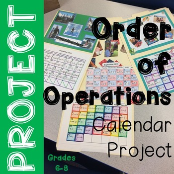 Order of Operations Project - Calendar Project