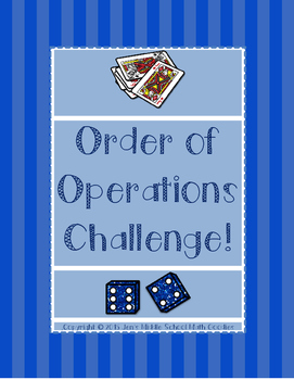 Order of Operations Challenge FREEBIE