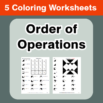 Order of Operations - Coloring Worksheets