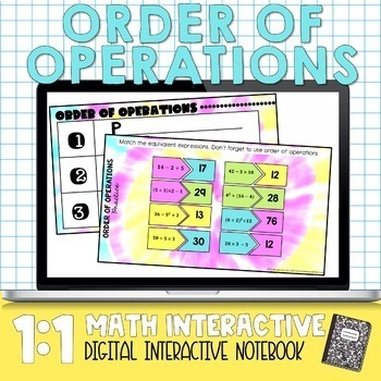 Order of Operations Digital Math Notes
