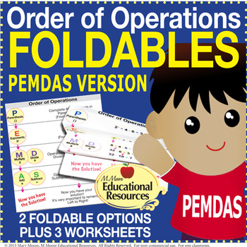 Order of Operations - FOLDABLES & More - PEMDAS Version -