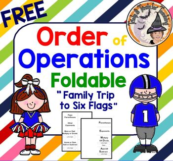 "FREE Order of Operations Foldable using ""Family Trip to Si"