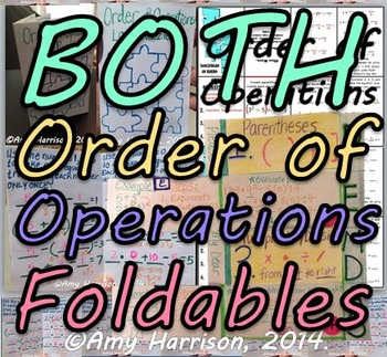 Order of Operations Foldables