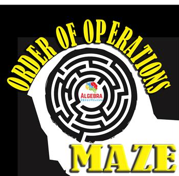 Order of Operations Fun Activity Maze Game Algebra