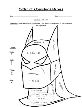 Order of Operations Heroes