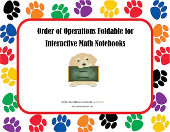 Order of Operations Interactive Math Notebook Foldable