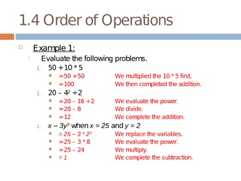 Order of Operations Lesson PowerPoint