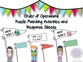 Order of Operations Matching Centers, Response Sheets and