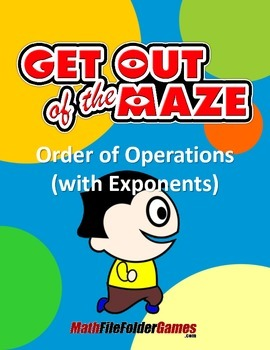 Order of Operations Maze - Level 3b - WITH Parentheses/Bra