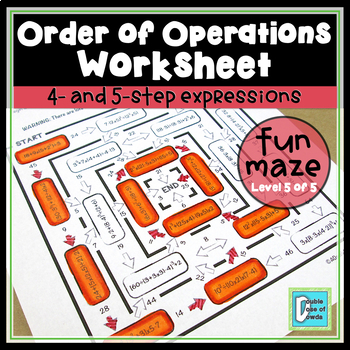 Order of Operations Maze - Level 5