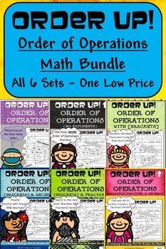 Order of Operations - Order Up! Math Bundle  (6 Sets)
