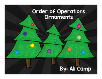 Order of Operations Ornament Task Cards