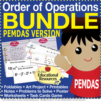 Order of Operations - PEMDAS - BUNDLE of Lessons & MORE