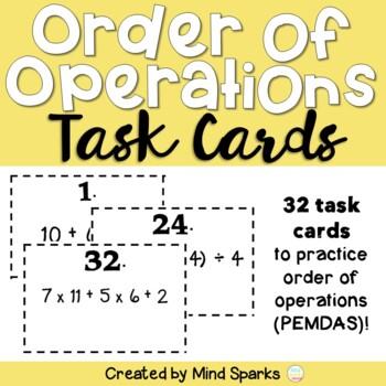 Order of Operations (PEMDAS) Task Cards